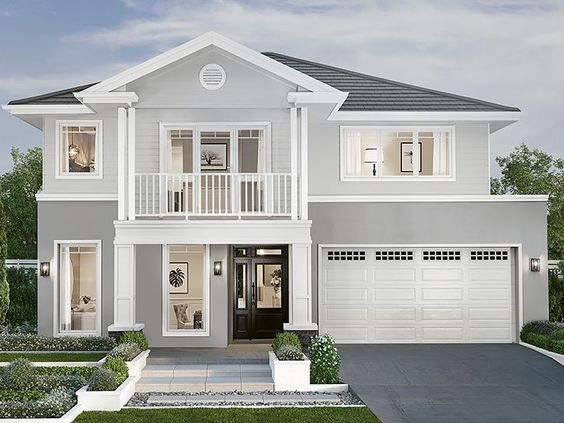 Hampton-style homes